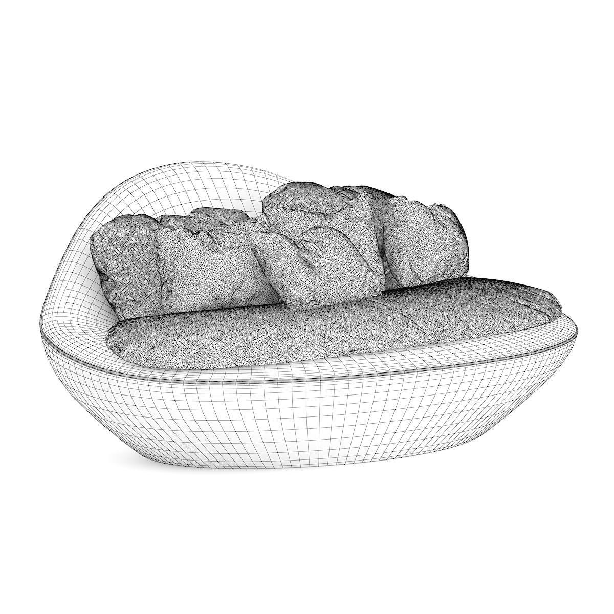 Round Sofa with Pillows