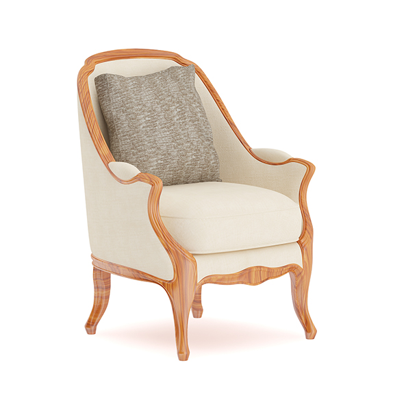 Classical Armchair with Pillow - 3DOcean Item for Sale