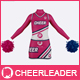 Cheerleader Costume Mock-Up (Front & Back views)