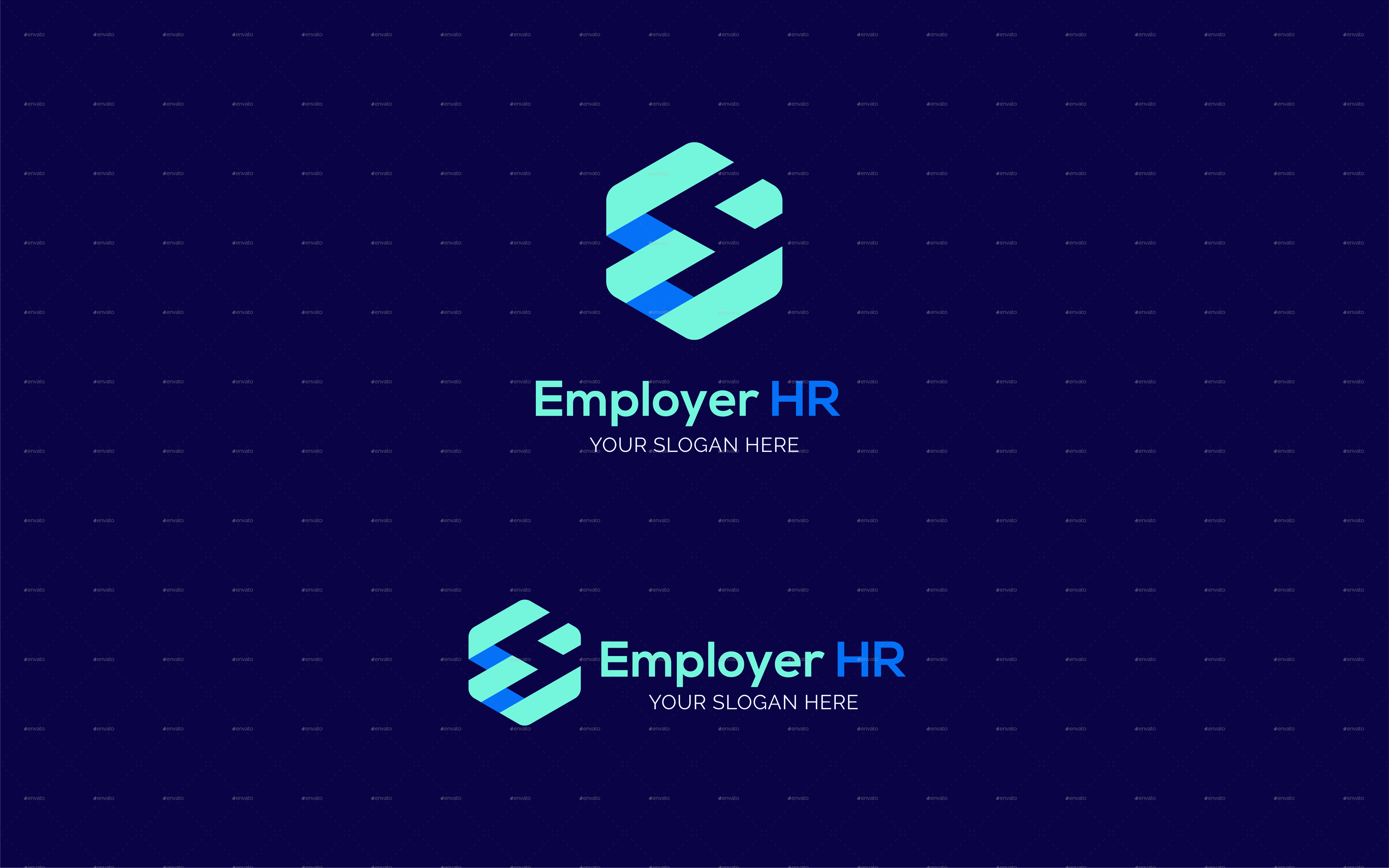 Employer Human Resources Letter E Logo Template By Newflix