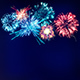 Fireworks Display on Dark Blue Sky - GraphicRiver Item for Sale