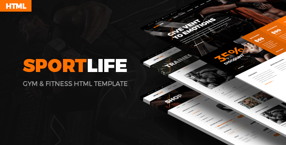 SportLife – Sport, Gym & Fitness HTML Template - Health & Beauty Retail