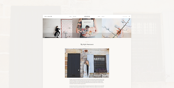 Adoxa - WordPress Blog Theme - Personal Blog / Magazine