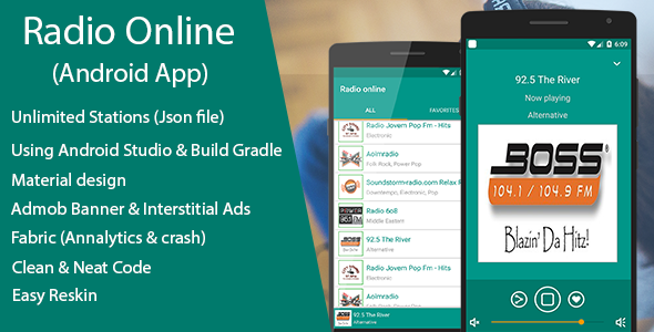 Online Radio - Streaming App with JSON file - CodeCanyon Item for Sale