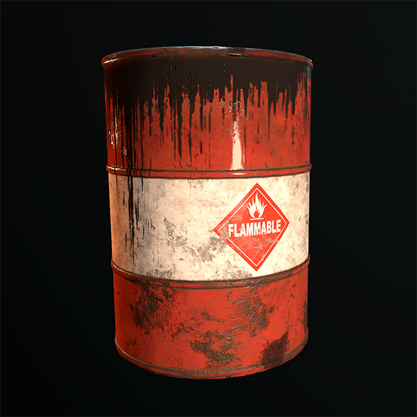 3DOcean Old Rusty Oil Barrel 20476559