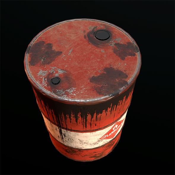 Old Rusty Oil Barrel By Arsammy 3docean