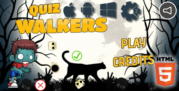 Quiz Walkers - HTML5 Game (Capx) - CodeCanyon Item for Sale