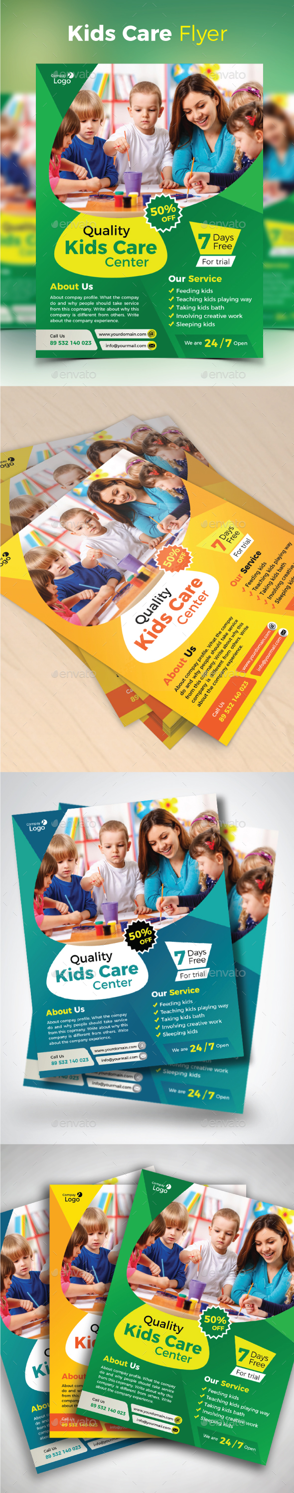 GraphicRiver Kids Care Flyer 20476663