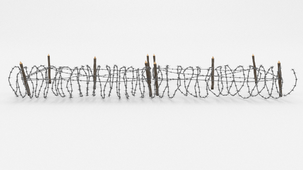 Barb Wire Obstacle 19 - 3DOcean Item for Sale