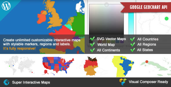 Super Interactive Maps for Wordpress - CodeCanyon Item for Sale