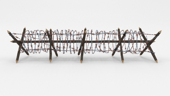 Low Poly Barb Wire Obstacle 12 - 3DOcean Item for Sale