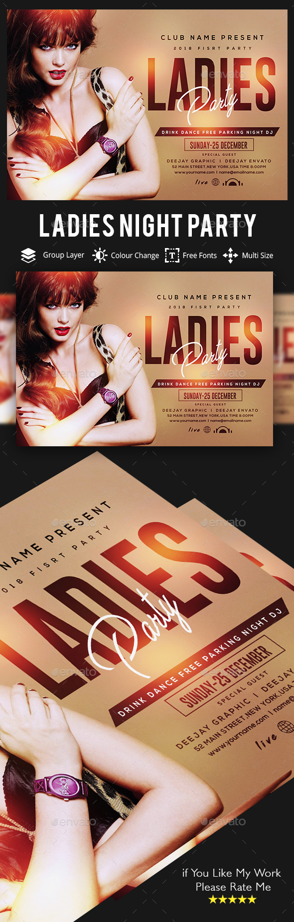 Ladies Night Party Flyer - Clubs & Parties Events