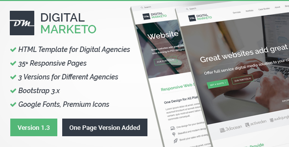 Digital Agency HTML Template