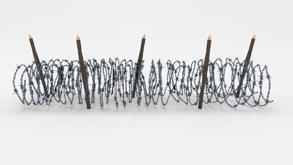 Low Poly Barb Wire Obstacle 15 - 3DOcean Item for Sale