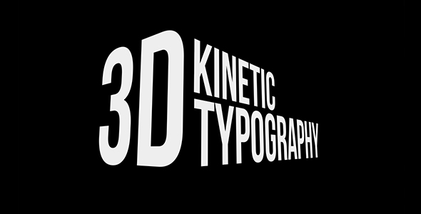 3D Kinetic Typography Titles 20476937