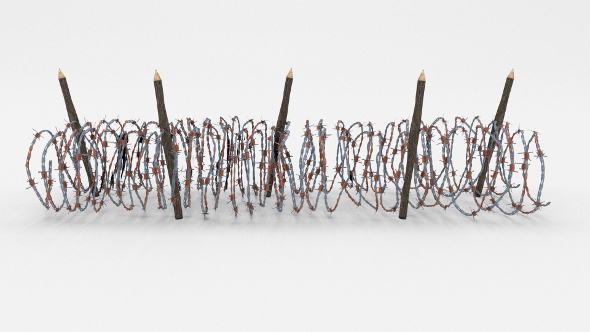 Low Poly Barb Wire Obstacle 16 - 3DOcean Item for Sale