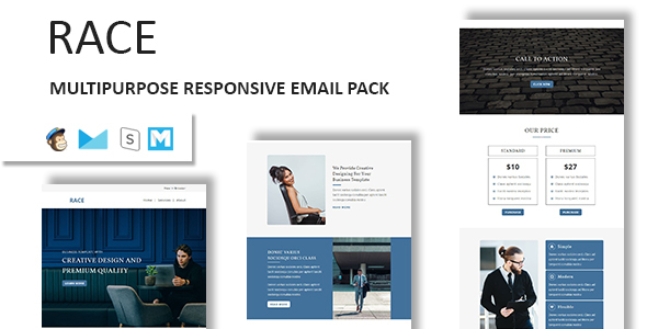 Race - Multipurpose Responsive Email Template With Stamp Ready Builder Access