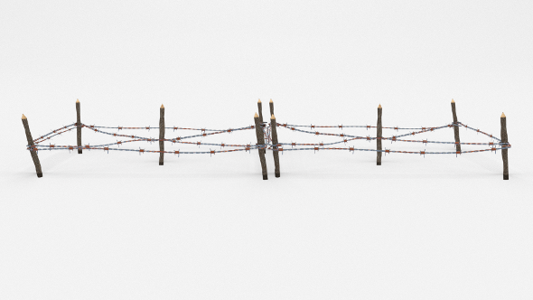 Low Poly Barb Wire Obstacle 18 - 3DOcean Item for Sale