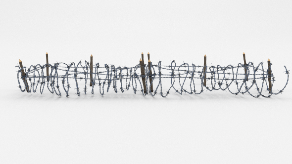 Low Poly Barb Wire Obstacle 19 - 3DOcean Item for Sale