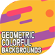 10 Geometric colorful backgrounds