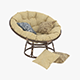 Papasan Rattan Chair 1 - 3DOcean Item for Sale