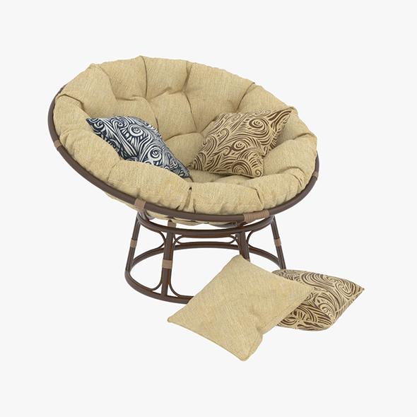 3DOcean Papasan Rattan Chair 1 20477102