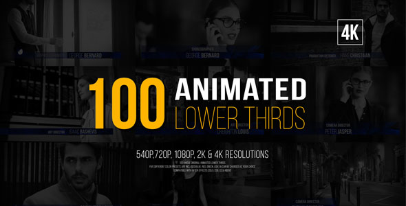 100 Animated Lower Thirds