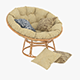 Papasan Rattan Chair 02 - 3DOcean Item for Sale