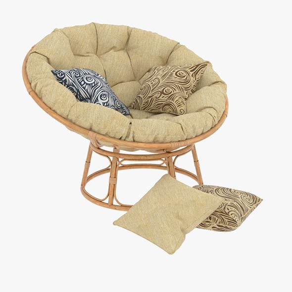 3DOcean Papasan Rattan Chair 02 20477131