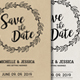 Save the Date Invitation Postcard - GraphicRiver Item for Sale