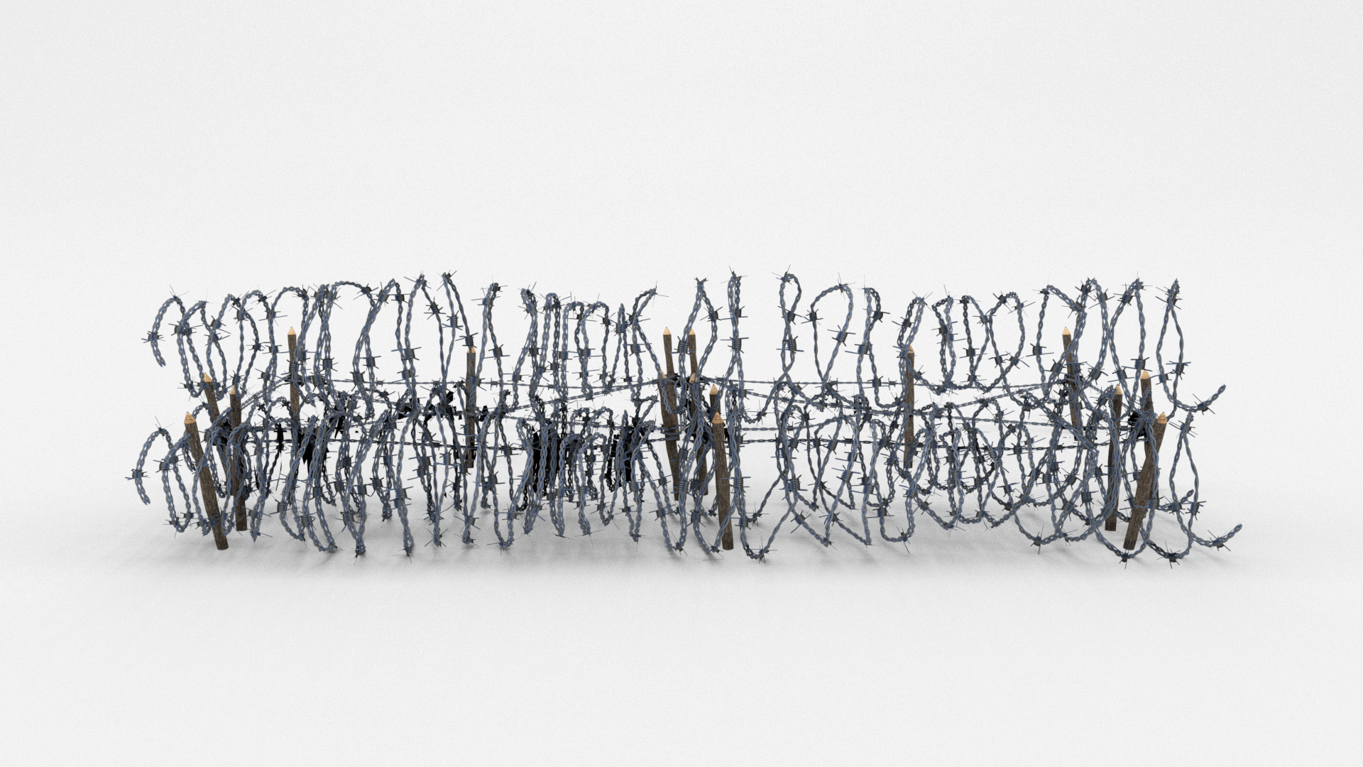 Low Poly Barb Wire Obstacle 23
