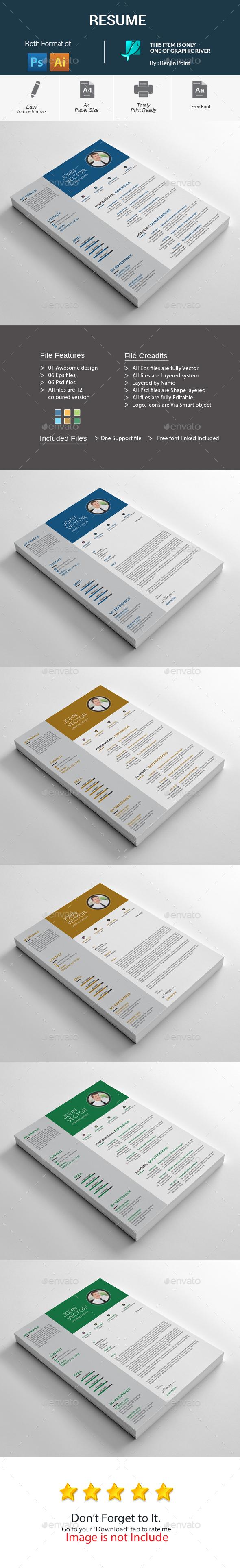 GraphicRiver Resume 20477187