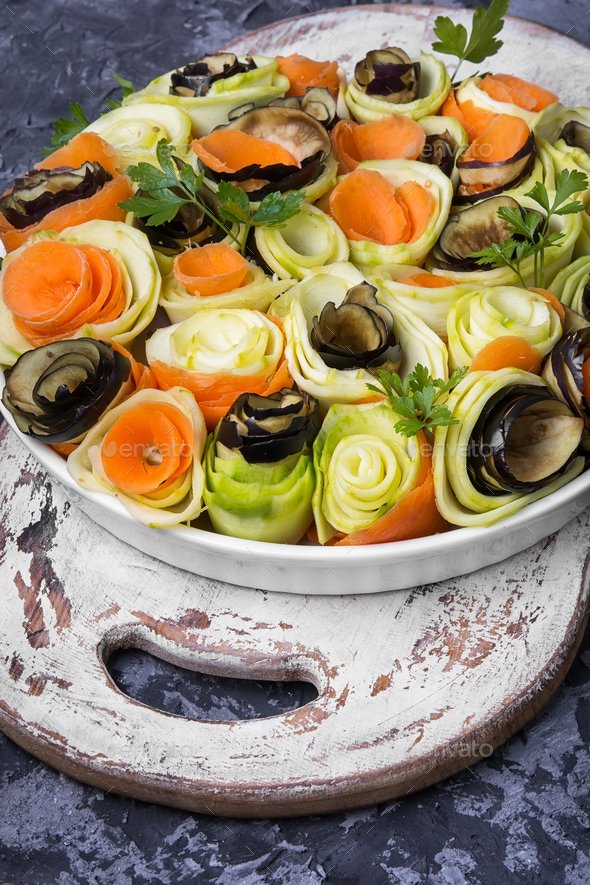 Vegetable chopped spiral - Stock Photo - Images