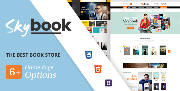 Skybook - Book Shop eCommerce Template - Shopping Retail