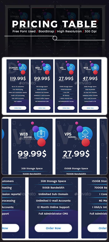 GraphicRiver Price Tables 20477447