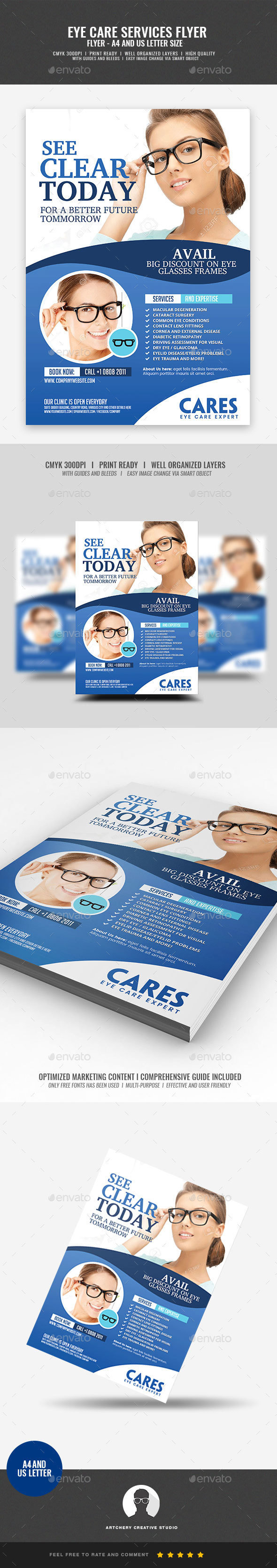 Optometrist Eye Care Flyer - Commerce Flyers