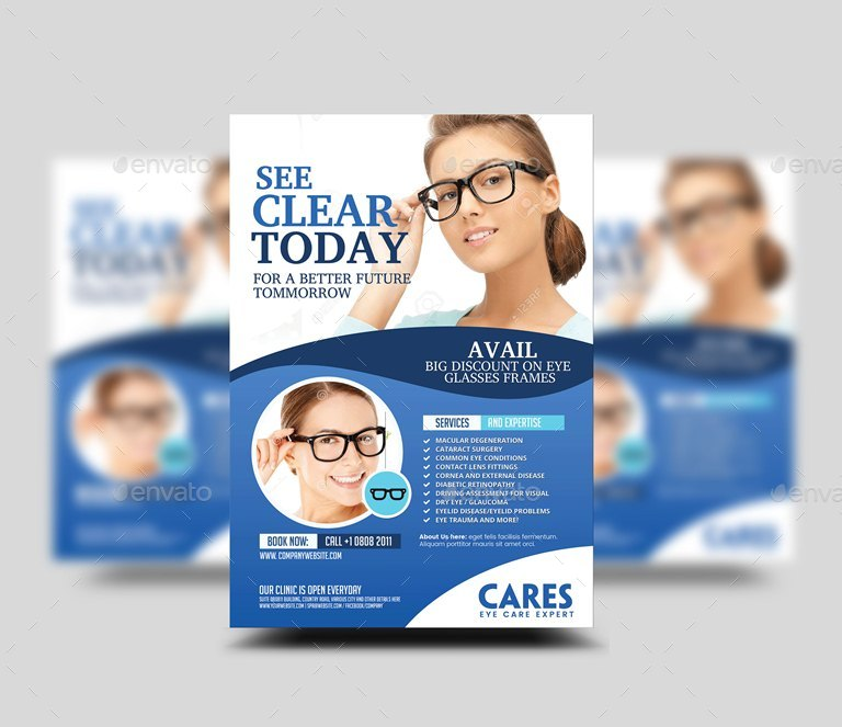 Optometrist Eye Care Flyer By Artchery Graphicriver