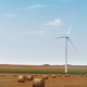 eolian wind turbine with wheat hay rolls - PhotoDune Item for Sale