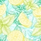 Seamless Pattern with Lemon and Mint.