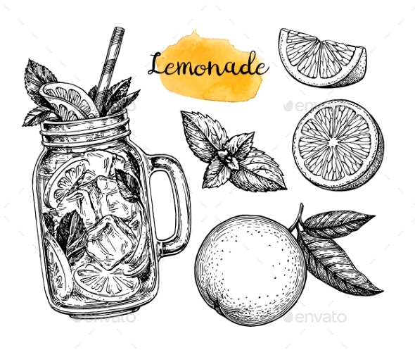 GraphicRiver Lemonade and Ingredients 20477675