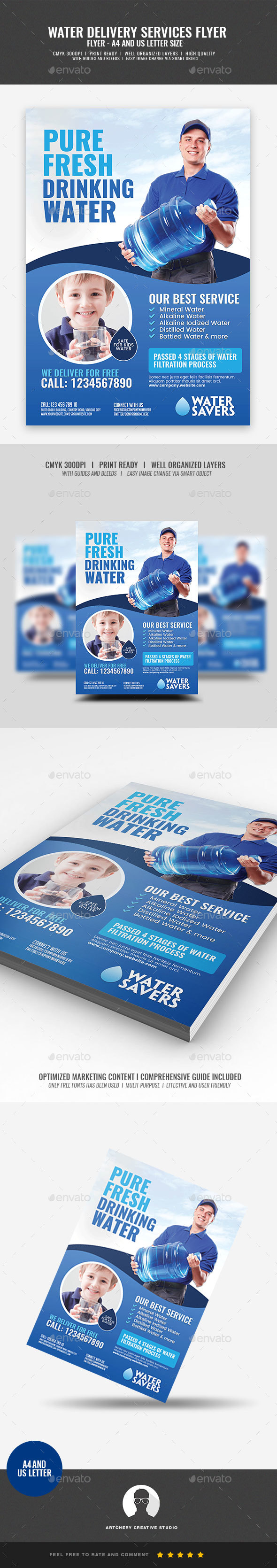 Drinking Water Services Flyer - Corporate Flyers