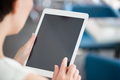 Woman using modern digital tablet - PhotoDune Item for Sale