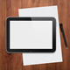 Digital tablet with pen on a desktop - PhotoDune Item for Sale