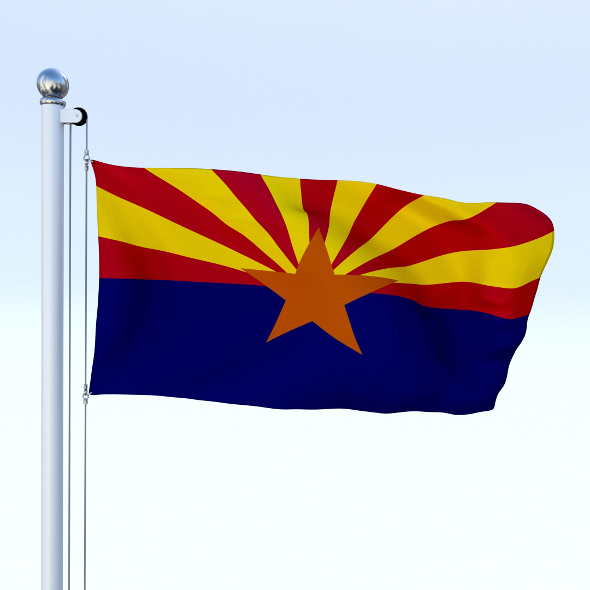 Animated Arizona Flag - 3DOcean Item for Sale