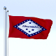 Animated Arkansas Flag - 3DOcean Item for Sale