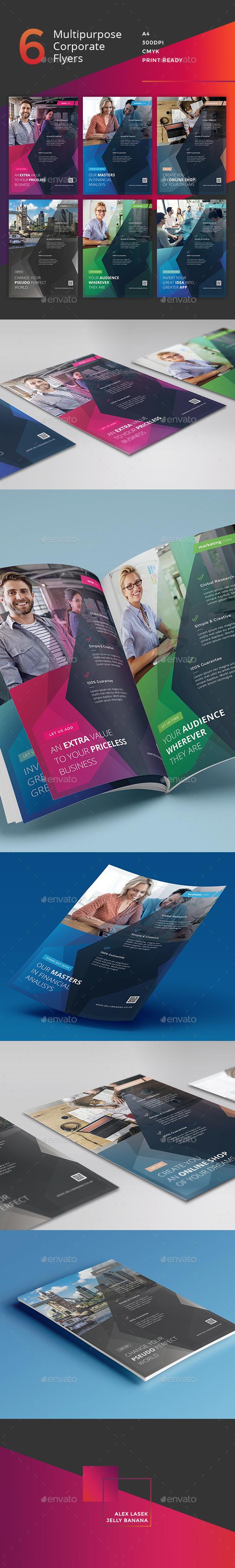 Corporate Flyer - 6 Multipurpose Business Templates vol 29 - Corporate Flyers