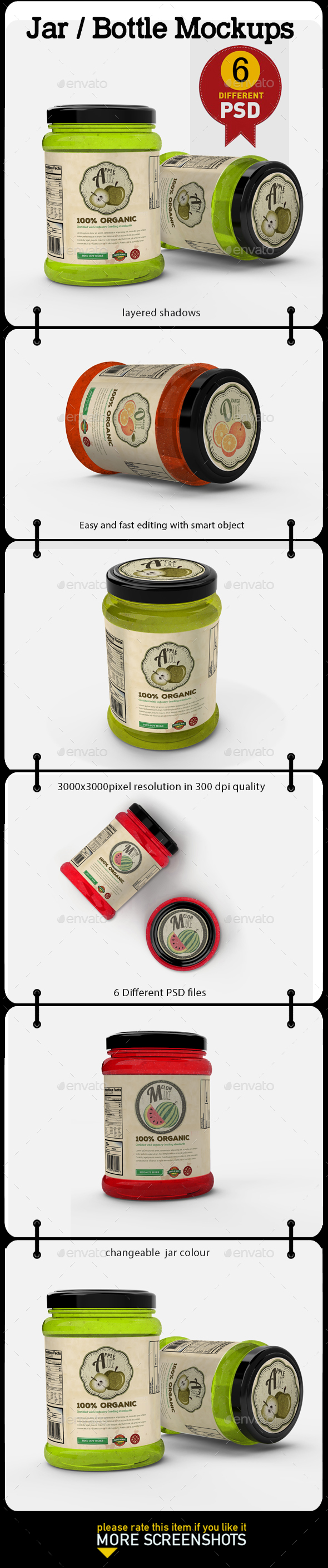 Jar / Bottle Mock Up - Product Mock-Ups Graphics