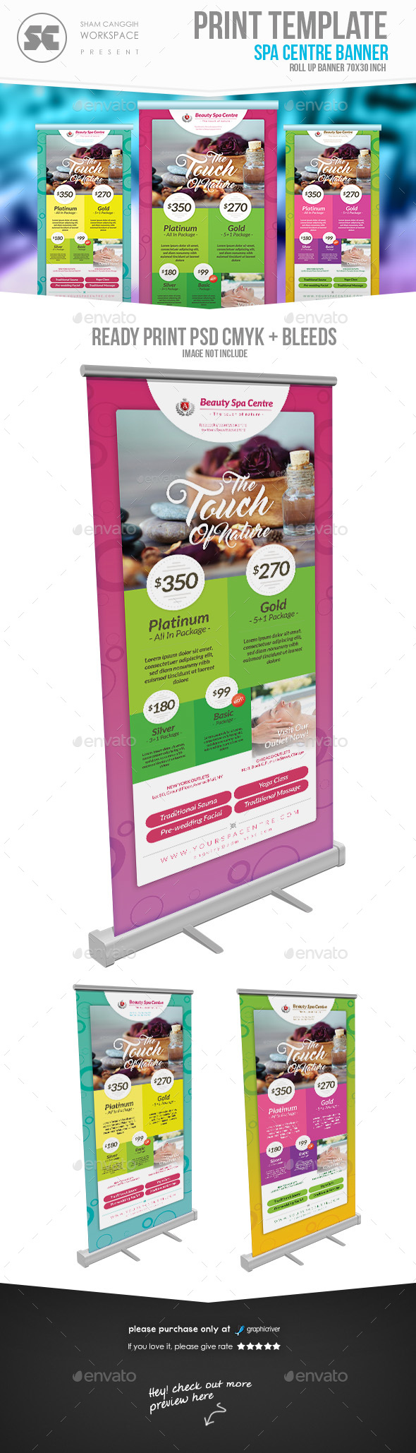 beauty / Spa Banner - Signage Print Templates