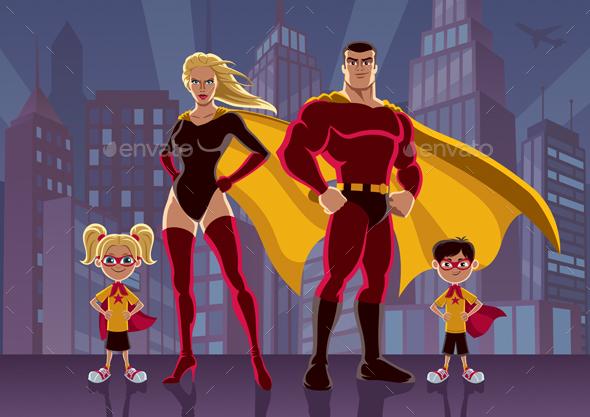 GraphicRiver Superhero Family 2 20478321