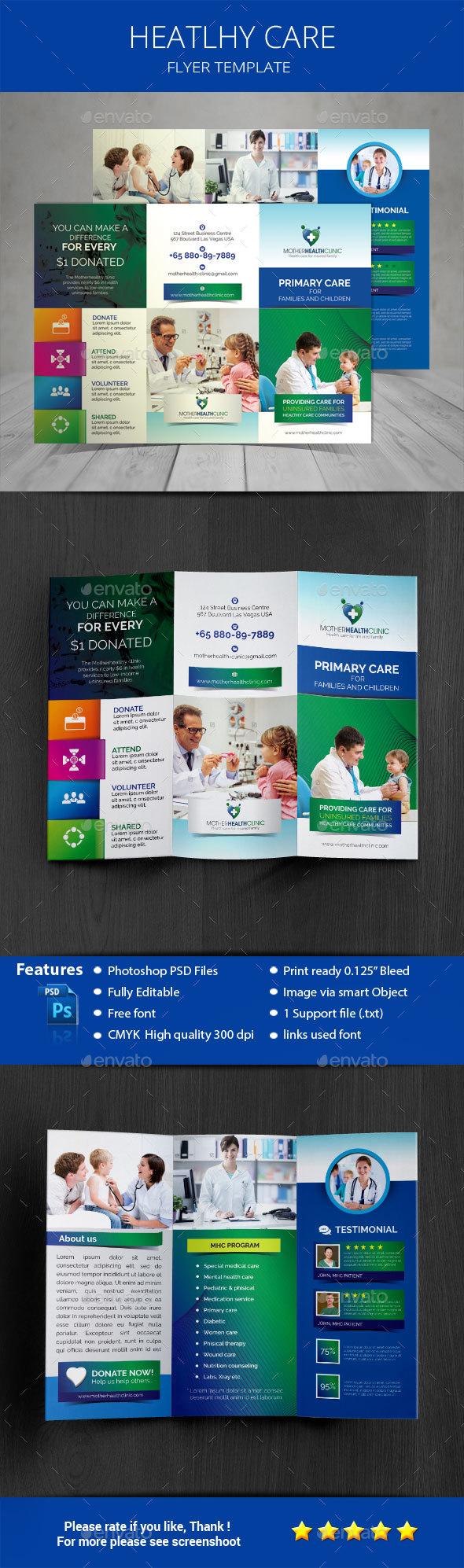 Healthcare Tri-fold Brochure Template - Corporate Brochures